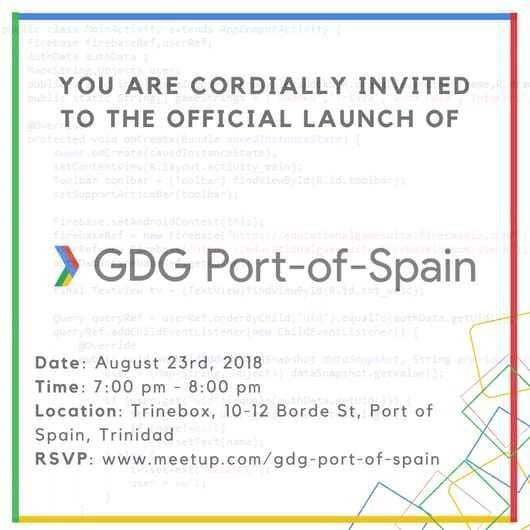 GDG Port of Spain – Official Launch